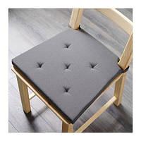 ЮСТИНА Подушка на стул, серый, 61075006, IKEA, ИКЕА, JUSTINA