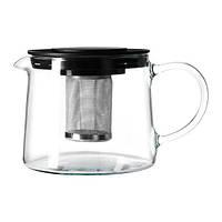 РИКЛИГ Чайник заварочный, стекло, 0.6 л, 40297848, IKEA, ИКЕА, RIKLIG