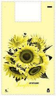 Пакет майка полиэтиленовая 34*58 Подсолнух (5цветов)  ''Комсерв'' (100 шт)заходи на сайт Уманьпак