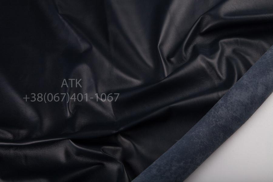 Кожа одежная наппа темно-синяя