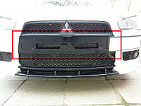Ноздри в передний бампер Mitsubishi Lancer X (2007-) / (с сеткой)