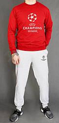 Мужской спортивный костюм Champions League красный с серым