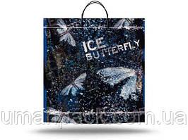 """Пакет с пластиковой ручкой большой  """"Ледяная бабочка"""" без ручки (10 шт)заходи на сайт Уманьпак"""