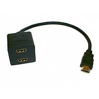 SW2 HDMI разветвитель на 2 порта gold APT000410