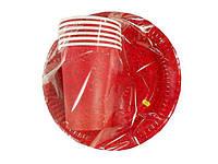 """Набор бумажный одноразовой посуды № 3/19 """"Фрески"""" (1 пач)заходи на сайт Уманьпак"""