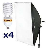 Софтбокс PoWerlux G804C-1 непрерывного света 50x70 см +4x люминесцентная лампа PoWerlux