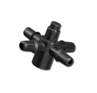 Адаптер-крестовина к трубке 5мм Bradas