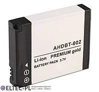 Аккумулятор AHDBT-001, AHDBT-002 1100мА (GoPro Hero 1, 2) Premium Gold
