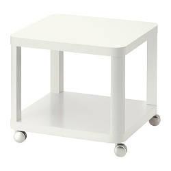 ТИНГБИ стол приставной на колесах, белый, 20295930, ИКЕА, IKEA, TINGBY