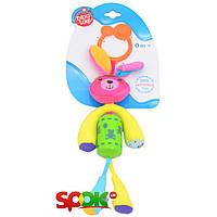 Игрушка-подвеска Biba Toys Счастливый зайчонок со звоночком (904HA bunny)
