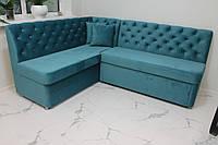 Мягкая мебель в кухню под заказ (голубая)