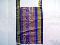 Пакет майка полиэтиленовая Полоса (42х70) №3 (100 шт)заходи на сайт Уманьпак