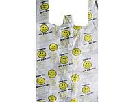 "Пакет Майка п\е (45*25+7) ""Усмішка"" Тетрафлекс (100 шт) Поліетиленові пакети купити оптом заходь на сайт"