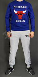 Мужской спортивный костюм Chicago Bulls синий с серым