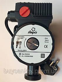 Циркуляционный насос Ampis (W 25/6-180 Black) с гайками и кабелем