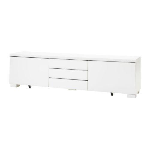 БЕСТО БУРС Тумба под ТВ, глянцевый белый 30269129, IKEA, ИКЕА, BESTA BURS