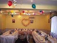 Свадебное оформление воздушными шарами в днепропетровске