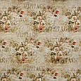 Декоративная ткань с винтажно-цветочным принтом, фото 2