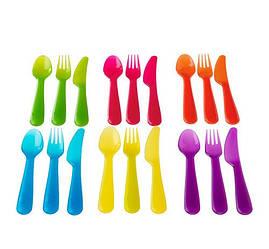 КАЛАС Столовый набор,18 предметов, разные цвета, 90192962, ИКЕА, IKEA, KALAS
