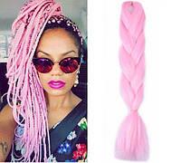 Канекалон для плетения кос светло-розовый 1,3 метра