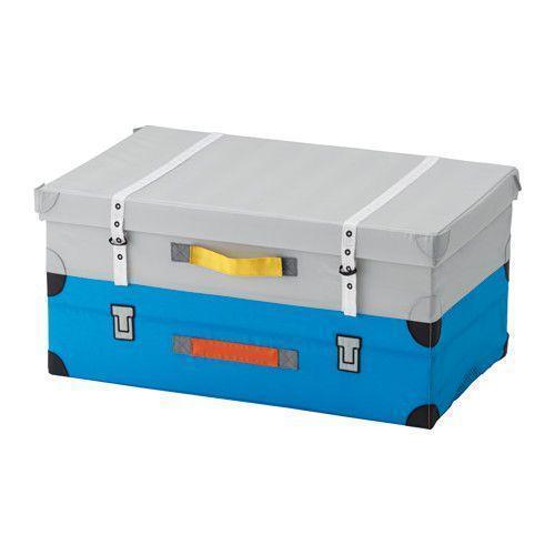 ФЛЮТТБАР Чемодан для игрушек, голубой, 00328837, ИКЕА, IKEA, FLYTTBAR