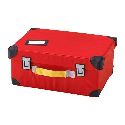 ФЛЮТТБАР  Чемодан для игрушек, красный, 70328853, ИКЕА, IKEA, FLYTTBAR