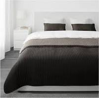 КАРИТ Покрывало и 2 чехла на подушку, коричневый,  60290252, ИКЕА, IKEA, KARIT