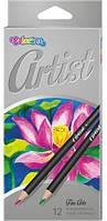 Карандаши 12 цв для художников Artist Colorino, 65498PTR