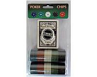 Фишки для покера 100 фишек с Фишки для покера 80шт и колода карт в металлической коробке