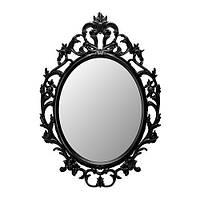 УНГ ДРИЛЬ Зеркало, овал, черный, 40213759, IKEA, ИКЕА, UNG DRILL