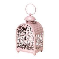 ГОТТГЁРА Фонарь для свечи, светло розовый, 60236156, IKEA, ИКЕА, GOTTGORA