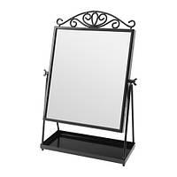 КАРМСУНД Зеркало настольное, черный, 00294979, IKEA, ИКЕА, KARMSUND