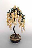 1236-дерево из бисера белая черемуха