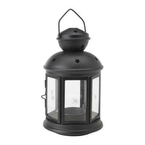 РОТЕРА Подсвечник, черный, для дома и улицы, 10122987, IKEA, ИКЕА, ROTERA
