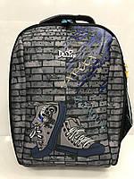 Рюкзак Delune 7-132 школьный с часами и рюкзаком для сменки детский для мальчиков 29 см х 20 см х37 см