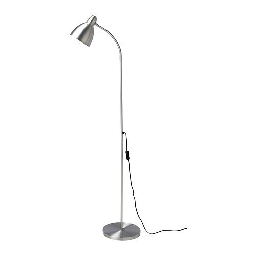 ЛЕРСТА Светильник напольний для чтения, алюминий, 00110640, ИКЕА, IKEA, LERSTA