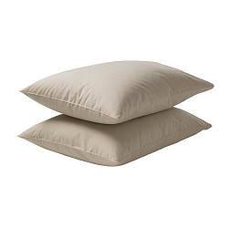 ДВАЛА Наволочка, бежевый, 50x60 см, 70150048, IKEA, ИКЕА, DVALA