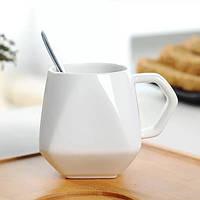 Керамическая чашка Ромб белая