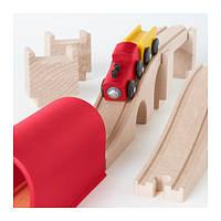 ЛИЛЛАБУ Поезд, мост, тунель, 12 предметов, 60112896, ИКЕА, IKEA, LILLABO