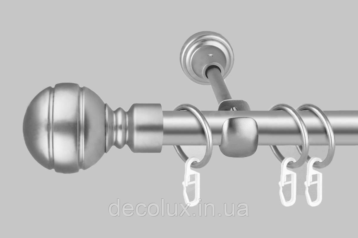 Карниз для штор однорядный металлический 25 мм