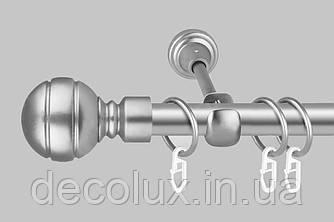 Карниз для штор однорядний металевий 19 мм Сатин