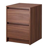 СКРЕЯ Комод с 2 ящиками, классический коричневый, 20287609, ИКЕА, IKEA, SKREIA