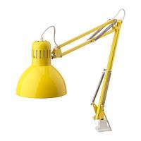 ТЕРЦИАЛ Лампа настольная, желтый, 40372866, IKEA, ИКЕА, TERTIAL