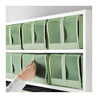 СКУББ Коробки для обуви 4шт., светло-зеленый, 10299721, ИКЕА, IKEA, SKUBB