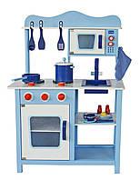 Деревянная кухня для детей Wooden toys Classic Blue