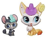 Littlest Pet Shop Литл Пет Шоп Маленький зоомагазин фигурки зверюшек Roxy Reddington and Dusty West Figures
