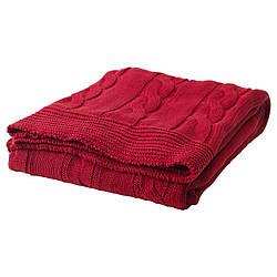 УРСУЛА Плед, красный, 30289467, IKEA, ИКЕА, URSULA
