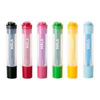 МОЛА Фломастеры - штампы, разные цвета, 00193490, ИКЕА, IKEA, MALA