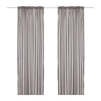 ВИВАН Гардины, 1 пара, серый, 145x300 см, 00297567, ИКЕА, IKEA, VIVAN
