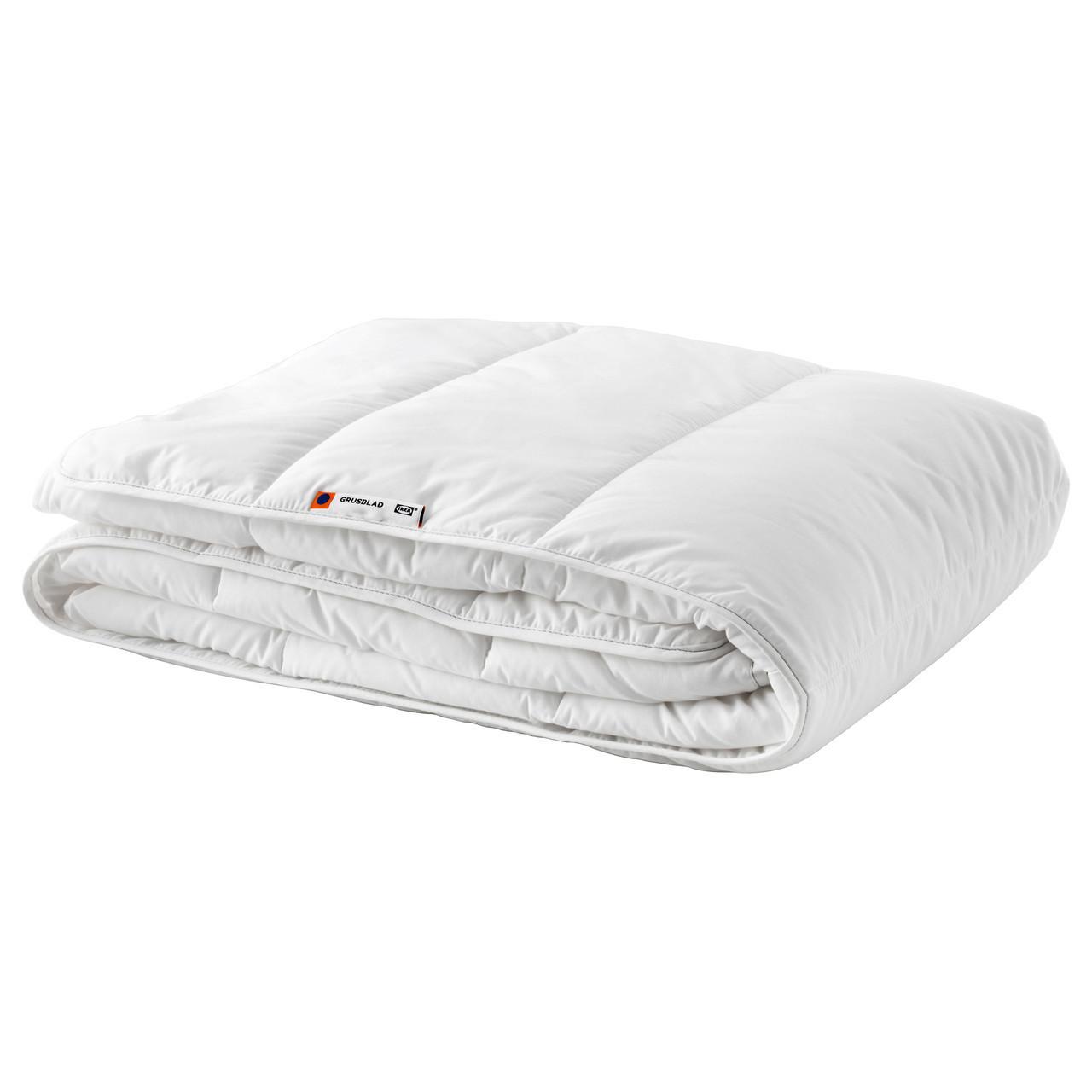 ГРУСБЛАД Одеяло, прохладное, 150*200см, 60271705, ИКЕА,  IKEA, GRUSBLAD - ИКЕА-МИР в Тернополе